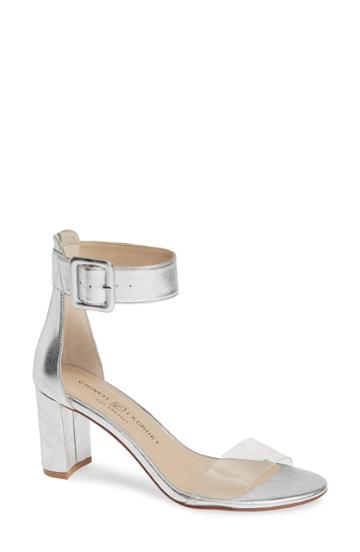 Women's Chinese Laundry Reggie Ankle Strap Sandal M - Metallic