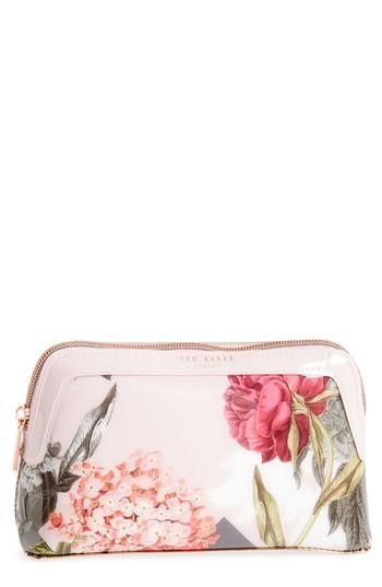 Ted Baker Genlee - Palace Gardens Cosmetics Bag, Size - Dusky Pink