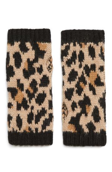Women's Kate Spade New York Leopard Arm Warmers