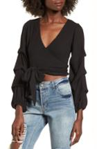 Women's 4si3nna Wrap Sweater - Black