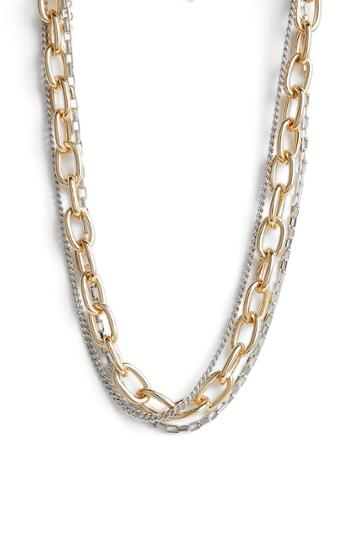 Women's Rebecca Minkoff Tubular Multi-chain Short Necklace