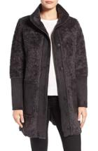 Women's Vince Camuto Faux Shearling Stand Collar Coat
