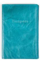 Men's Moore & Giles Leather Passport Case - Blue