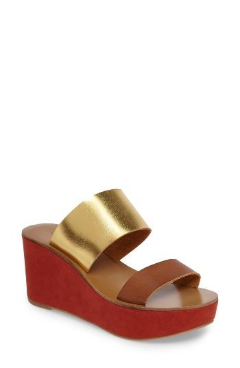 Women's Chinese Laundry Ollie Platform Wedge Sandal .5 M - Brown