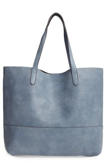 Sole Society Dawson Oversize Faux Leather Shopper - Blue