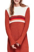 Women's Free People Colorblock Sweater Dress - Red