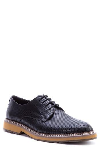 Men's Zanzara Monticello Perforated Plain Toe Derby M - Black