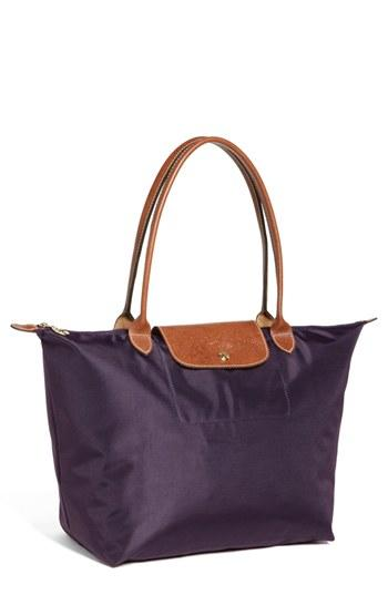 Longchamp 'large Le Pliage' Nylon Tote - Purple
