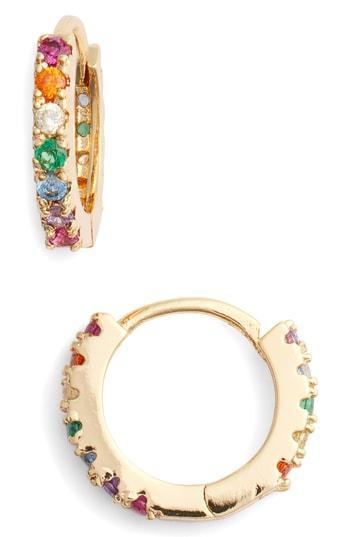 Women's Lulu Dk Rainbow Huggie Hoop Earrings