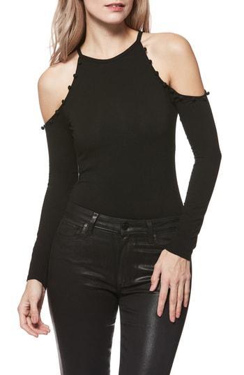 Women's Paige Siana Cold-shoulder Bodysuit - Black