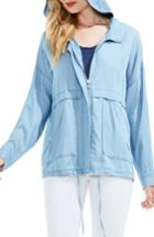 Women's Two By Vince Camuto Tencel Lyocell Jacket - Blue