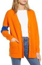 Women's Calvin Klein Jeans Colorblock Cardigan - Orange