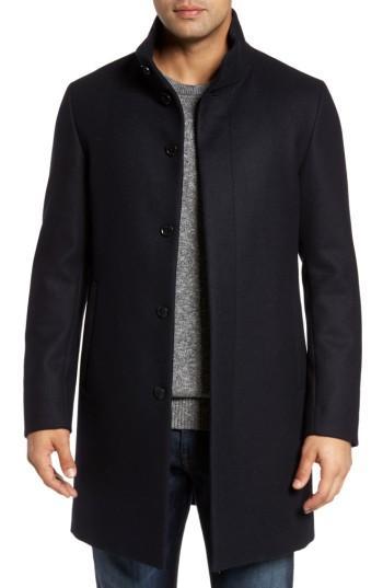 Men's Sanyo Edward Wool Rain Coat - Blue