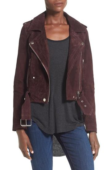 Women's Blanknyc 'morning' Suede Moto Jacket