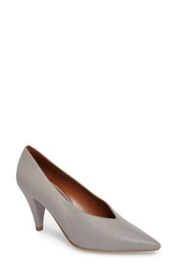 Women's Topshop Journal Pointy Toe Pump .5us / 35eu - Grey