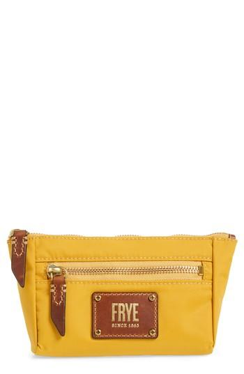 Frye Ivy Cosmetics Case, Size - Yellow