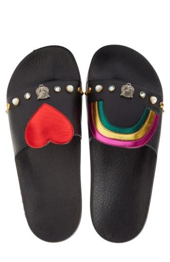 Women's Gucci Pursuit Slide Sandal Us / 38eu - Black