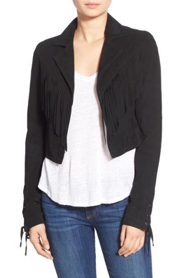 Women's Paige 'darlene' Suede Jacket - Black