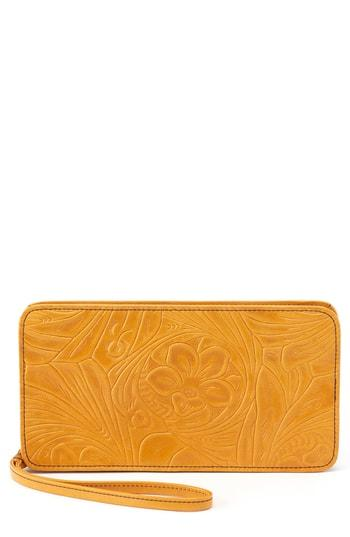 Women's Hobo Avis Leather Wallet - Yellow