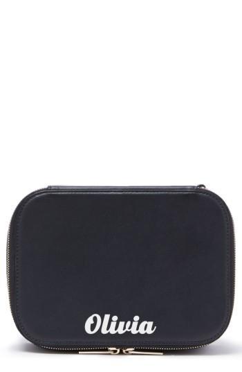 Pop & Suki Bigger Personalized Makeup Case, Size - Noir