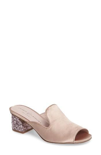 Women's Chinese Laundry Mara Glitter Loafer Mule .5 M - Beige