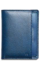 Men's Hook + Albert Leather Bifold Wallet - Blue