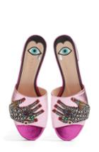 Women's Gucci Wangy Embellished Slide Sandal Us / 36eu - Pink
