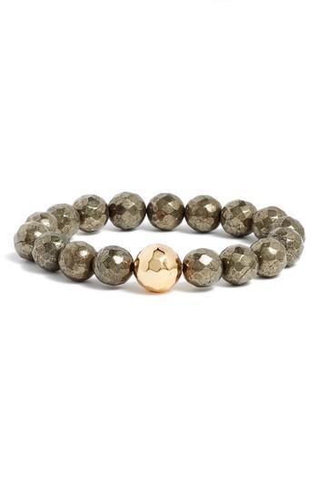 Women's Gorjana Power Gemstone Pyrite For Strength Bracelet