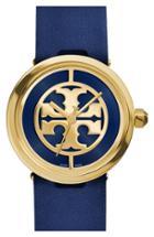 Women's Tory Burch 'reva' Leather Strap Watch, 36mm