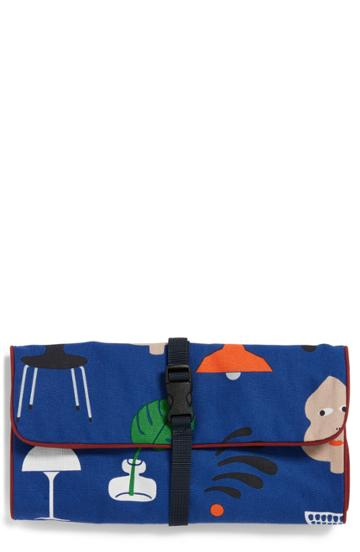 Ohhlala Home Roll Toiletry Pouch, Size - Blue
