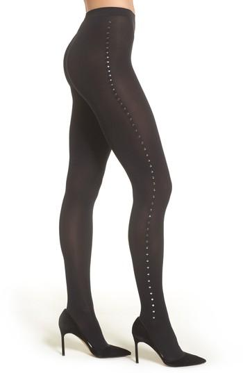 Women's Wolford Embellished Tights - Black