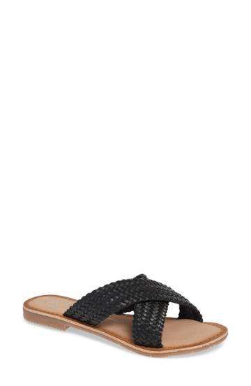 Women's Chinese Laundry Pure Woven Slide Sandal .5 M - Black