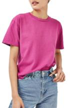 Women's Topshop Distressed Edge Tee Us (fits Like 14) - Pink