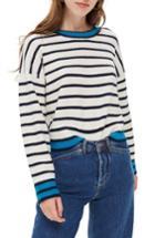 Women's Topshop Stripe Sweater Us (fits Like 0) - Ivory