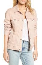 Women's Ag Nancy Distressed Denim Jacket - Pink