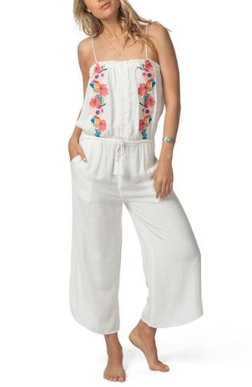 Women's Rip Curl Cali Dreaming Jumpsuit - Ivory
