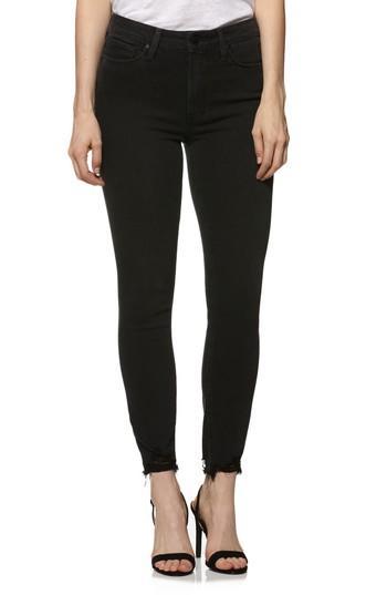Women's Paige Transcend - Hoxton High Waist Ultra Skinny Jeans - Black
