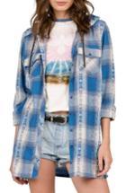 Women's Volcom Salt Fix Plaid Hooded Tunic