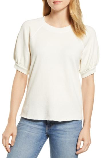 Women's Velvet By Graham & Spencer Short Sleeve Sweatshirt - Ivory