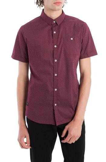 Men's 7 Diamonds Colossus Woven Shirt - Burgundy