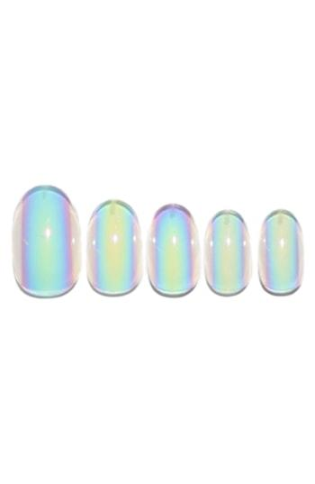 Static Nails Holographic Spill Holograph Pop-on Reusable Manicure Set - Holographic Spill