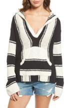 Women's Pam & Gela Stripe Baha Pullover, Size - Black