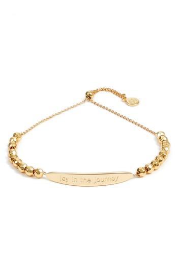 Women's Gorjana Power Intention Joy In The Journey Adjustable Bracelet