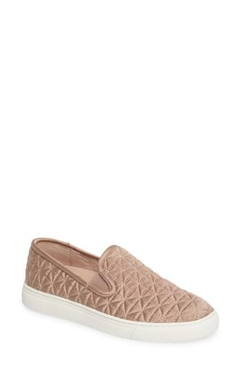 Women's Vince Camuto Billena Quilted Slip-on Sneaker .5 M - Red