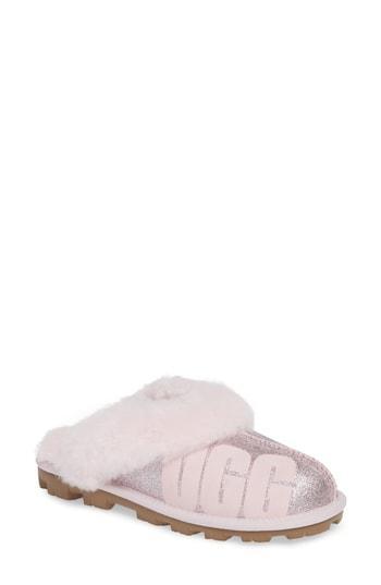 Women's Ugg Sparkle Genuine Shearling Slipper M - Pink