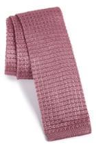 Men's The Tie Bar Knit Silk Tie, Size - Pink