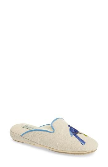 Women's Patricia Green Bluebird Embroidered Slipper