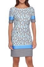 Women's Tahari Print Scuba Sheath Dress