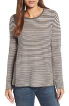 Women's Eileen Fisher Stripe Merino Wool Sweater