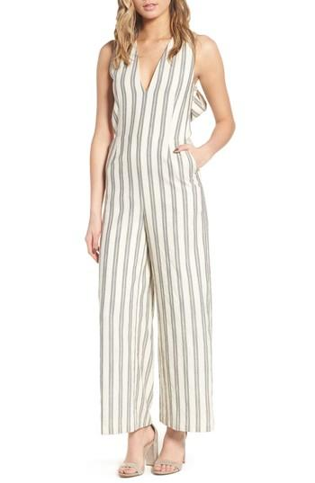 Women's Rebecca Minkoff Marley Stripe Jumpsuit - White